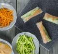 Salmon Rice Paper Rolls