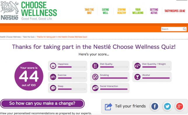Nestle choose wellness quiz
