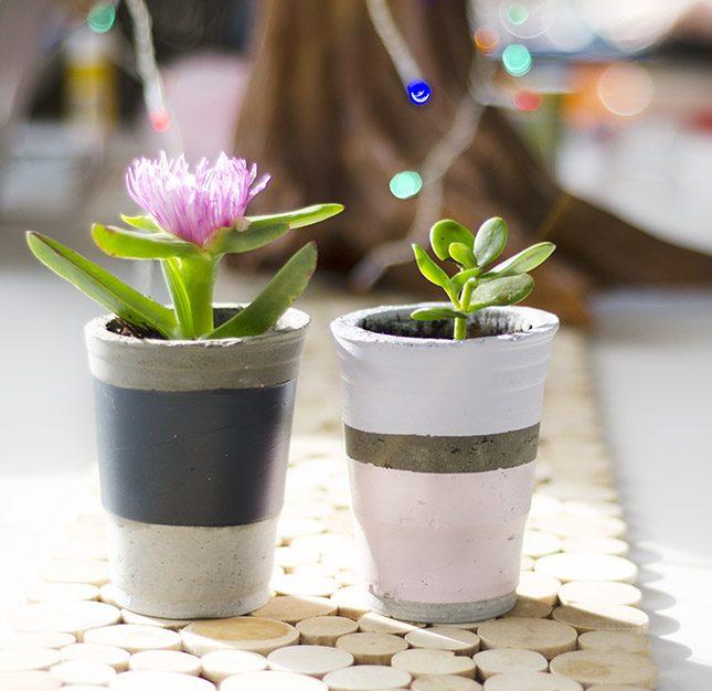 how to make a concrete plant pot