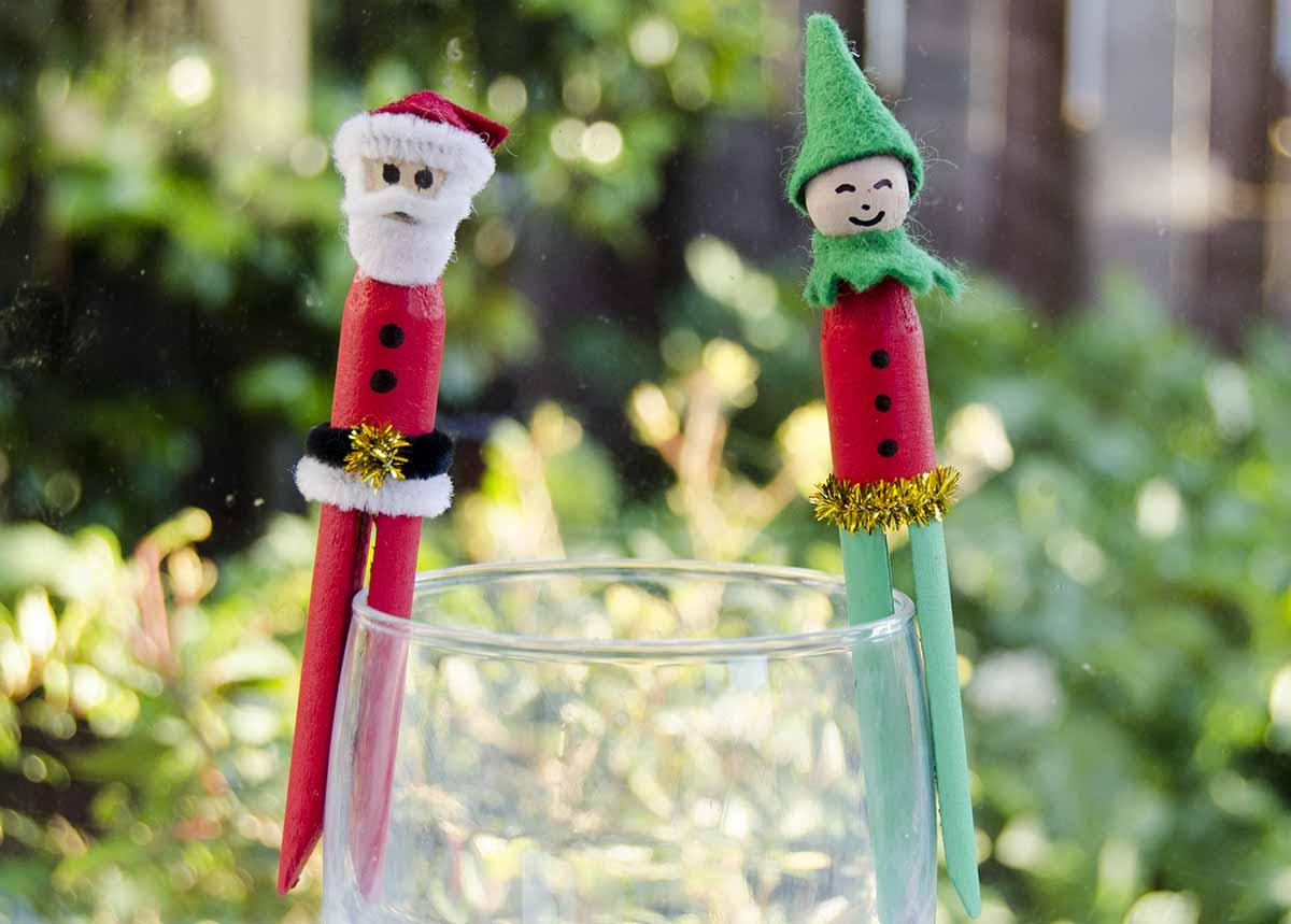 Peg craft christmas decorations kiwi families for Decoration kiwi