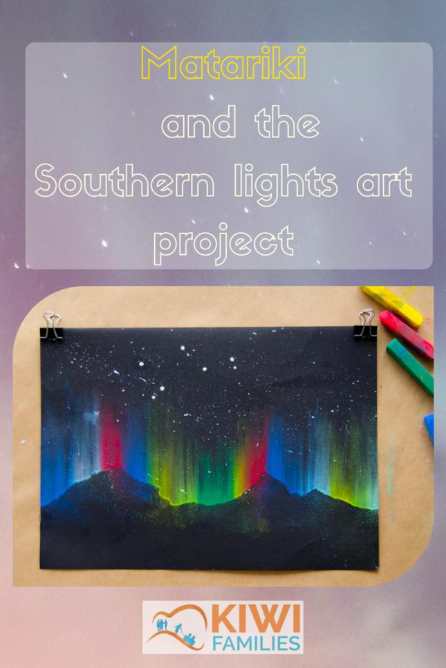 Matariki and the southern lights art project pin