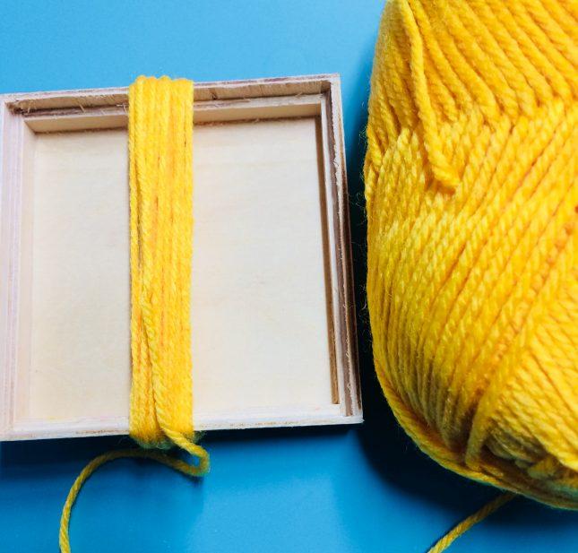 Boho yellow wool wrap