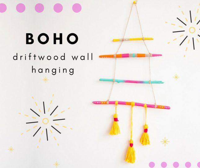boho driftwood wall hanging