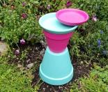 How to make a terracotta pot birdbath