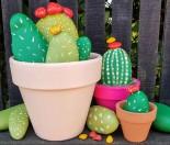 DIY Faux rock Cactus Garden