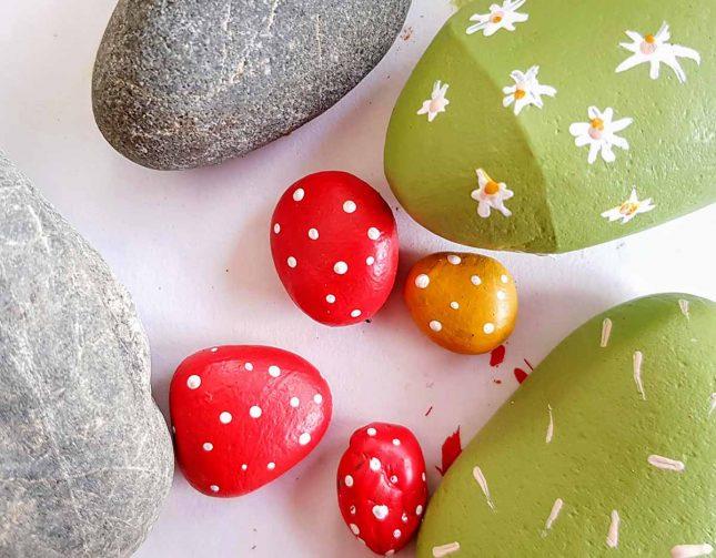 DIY rock cactus dots