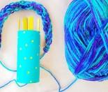 Toilet roll french knitting Resene