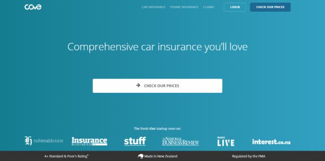 Cove Insurance-homepage
