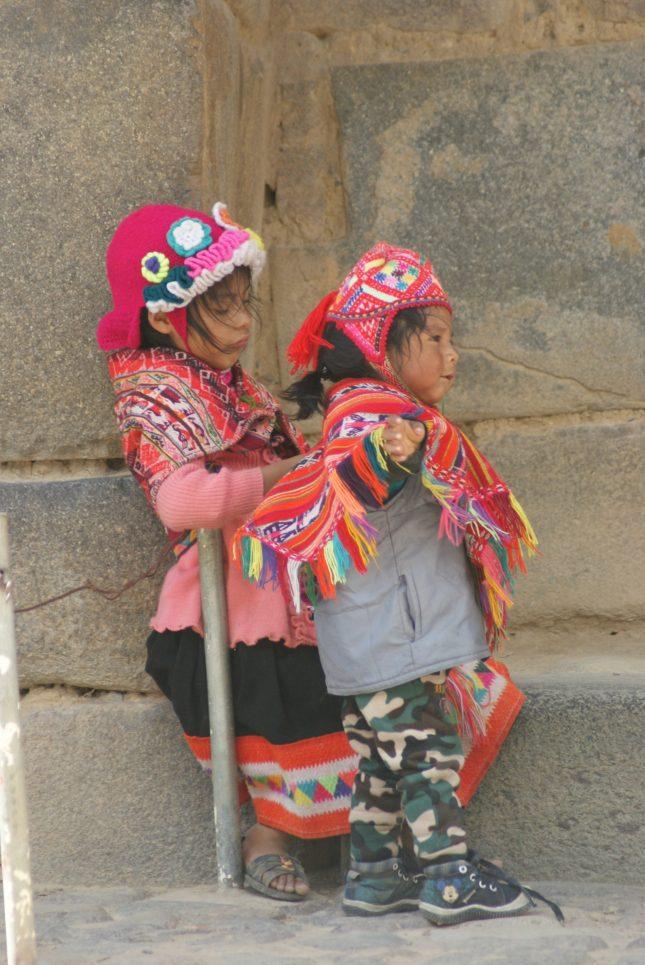 Peru - a great family holiday destination - macchu pichu - Inca children