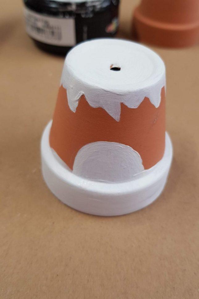 DIY Clay Pot Christmas Craft 1