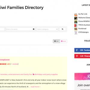Kiwi Families Directory - Advertising