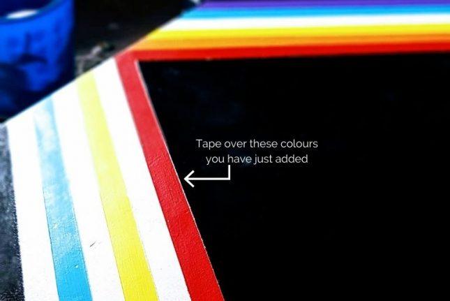 Upcycled-Dressing-Table-Rainbow-arrow.