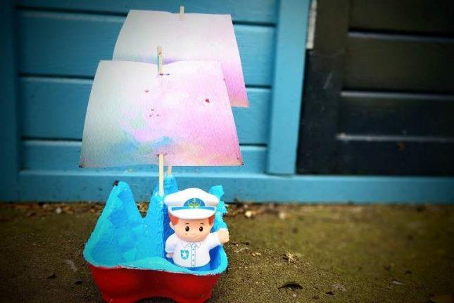 Egg Carton - Boat craft finished