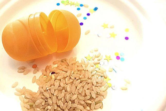 Make Maracas glitter rice fill