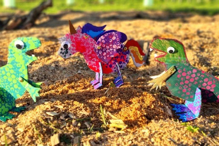 Cardboard Dinosaur - Craft unicorn1